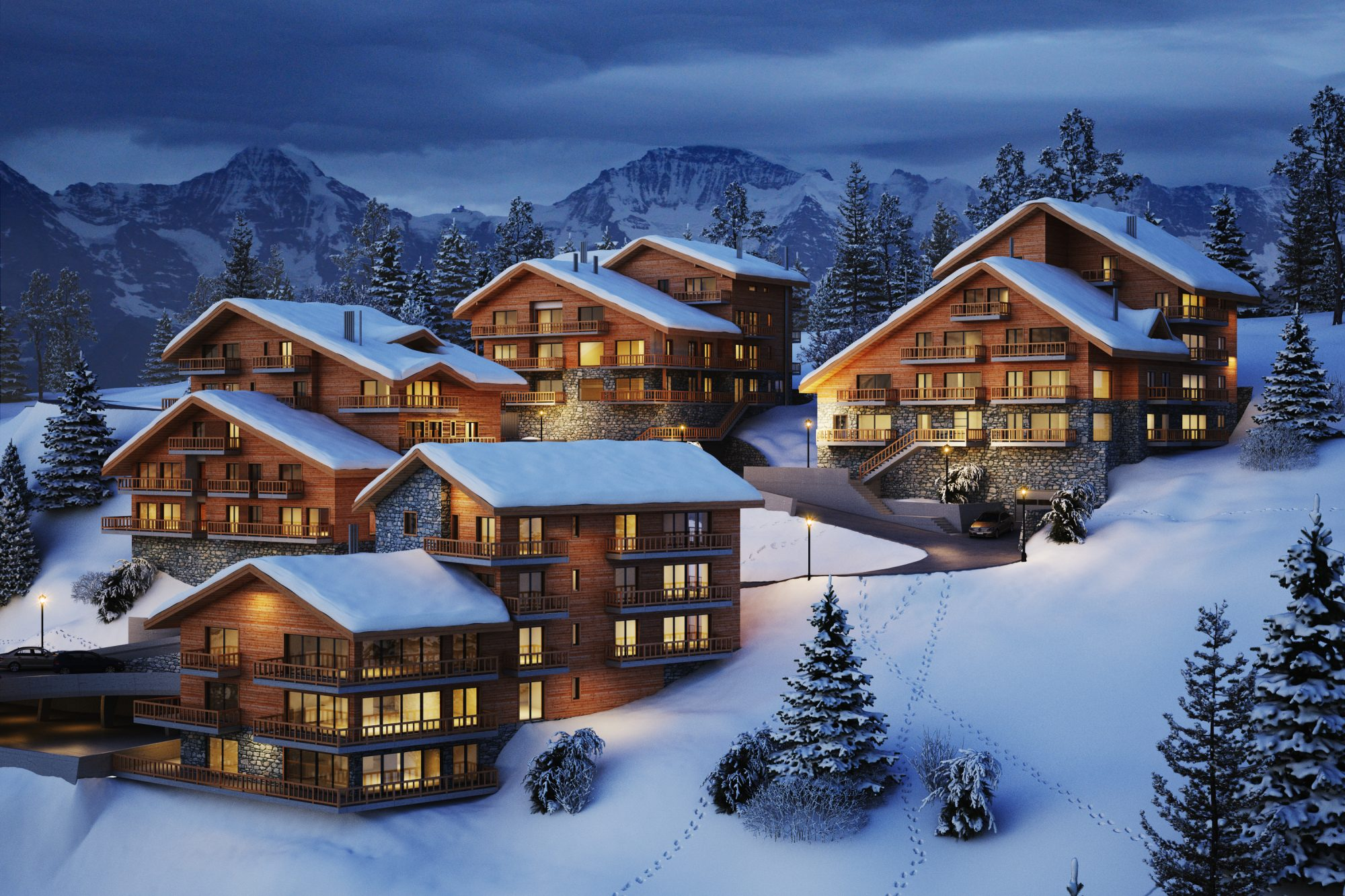 Luxury apartments on the Ski-Piste in La Tzoumaz Verbier.
